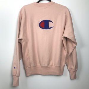 Champion Reverse Weave Small Crewneck Sweatshirt